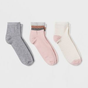 a new day Accessories - 2 packs of Women's Ankle Socks. 6 pair total